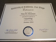 Copyediting certificate