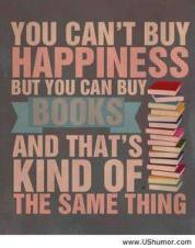 Books equal happiness (kind of)