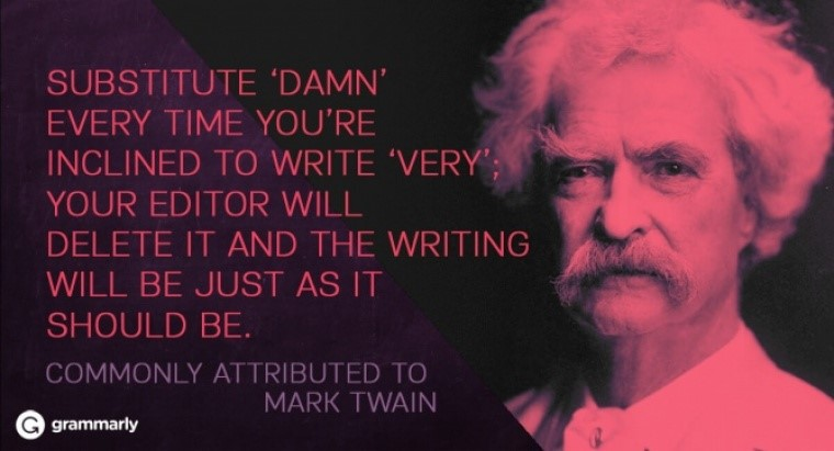 Write Damn Instead of Very
