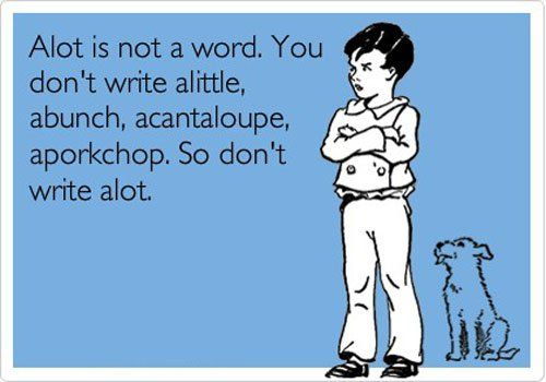 Alot is not a word