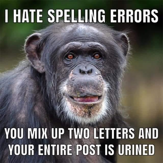 Mix up two letters and your post is urined.
