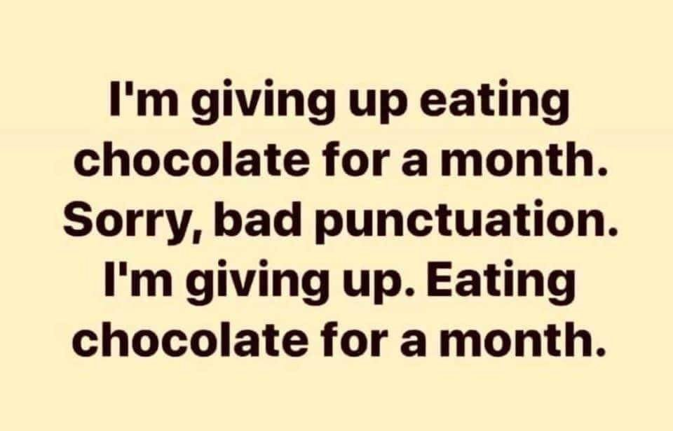 Eating chocolate for a month